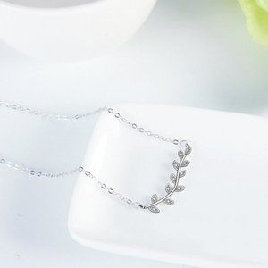 925 Sterling Silver Leaves Necklaces